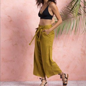 L*Space Wide-Legged Smith Pant Belted Tie-Waist